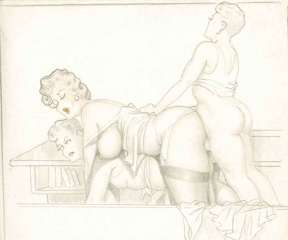Erotic Vintage drawings Porn Pics #295379