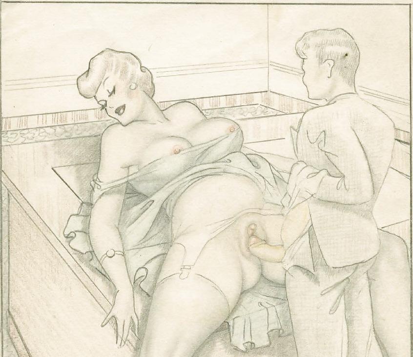 Erotic Vintage drawings Porn Pics #295390