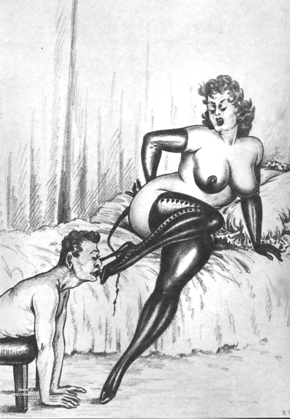 Erotic Vintage drawings Porn Pics #295440