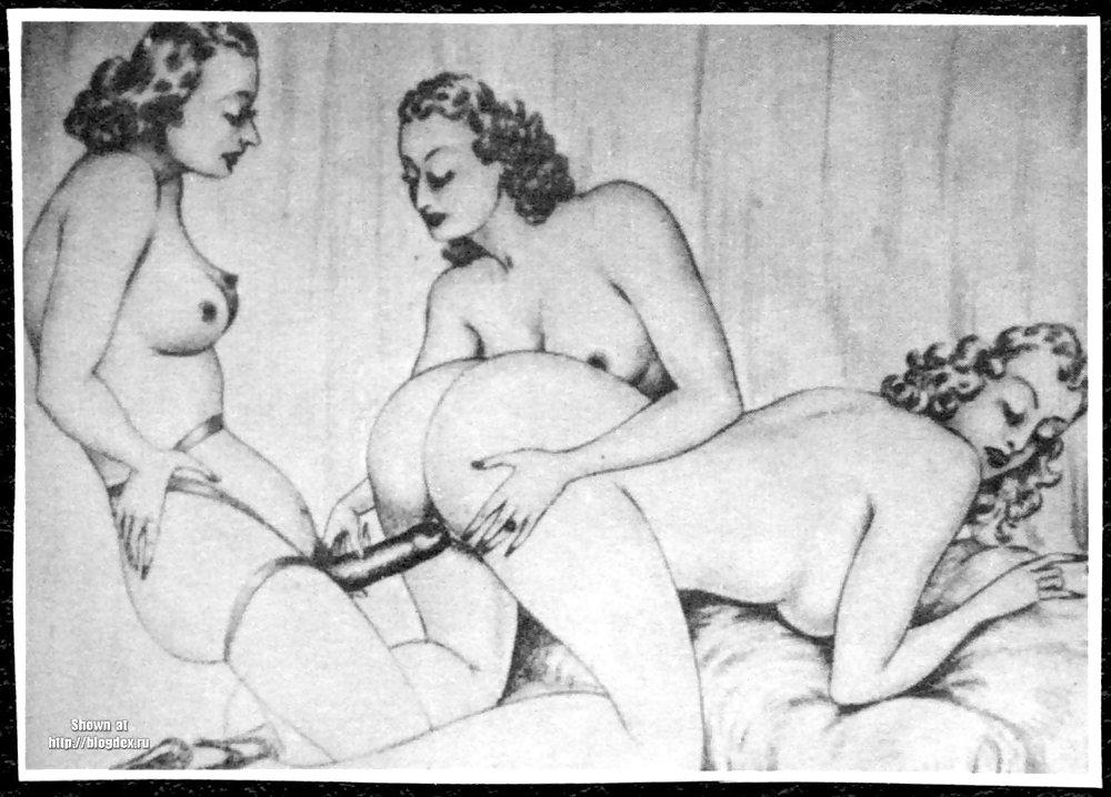 Erotic Vintage drawings Porn Pics #295449