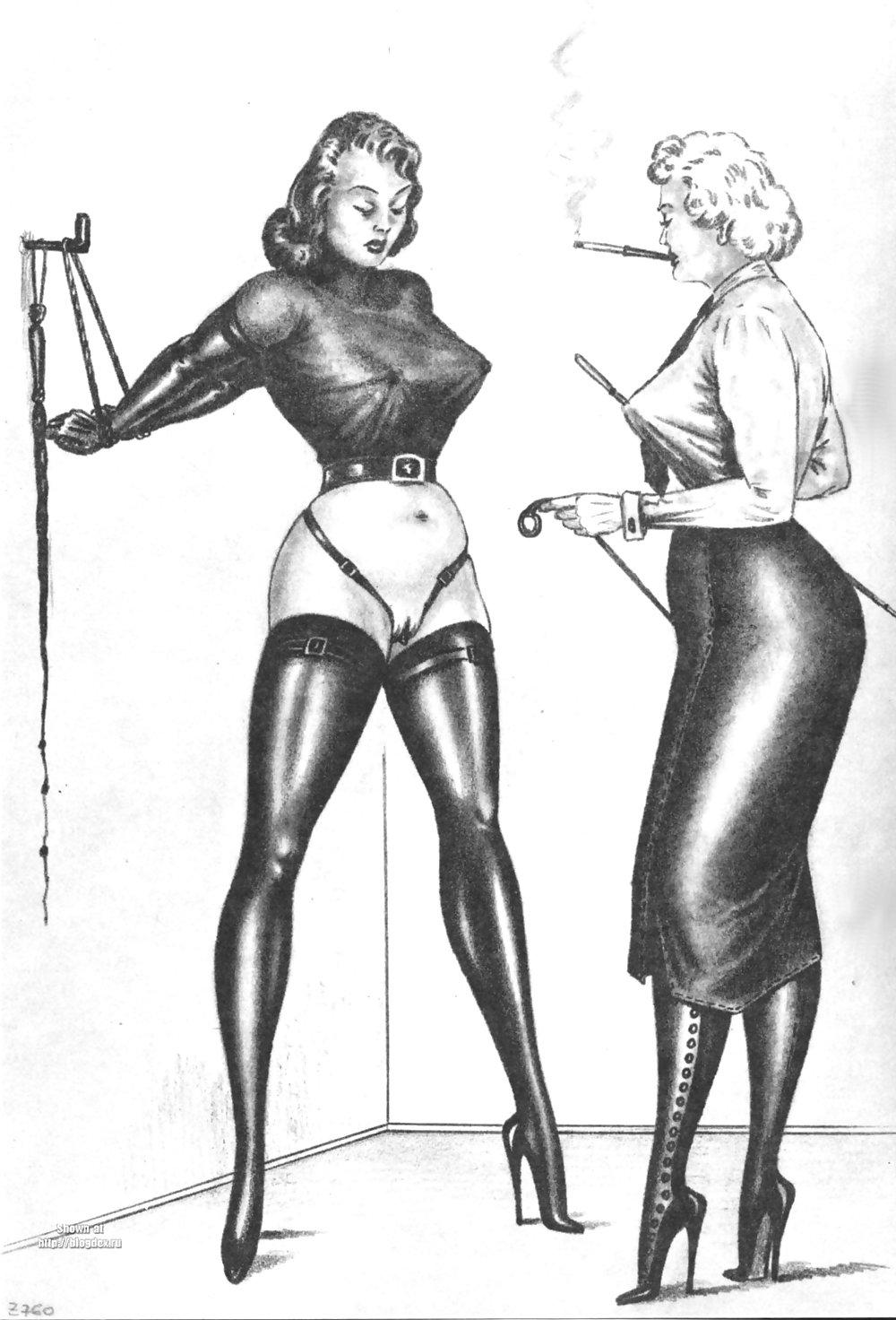 Erotic Vintage drawings Porn Pics #295459