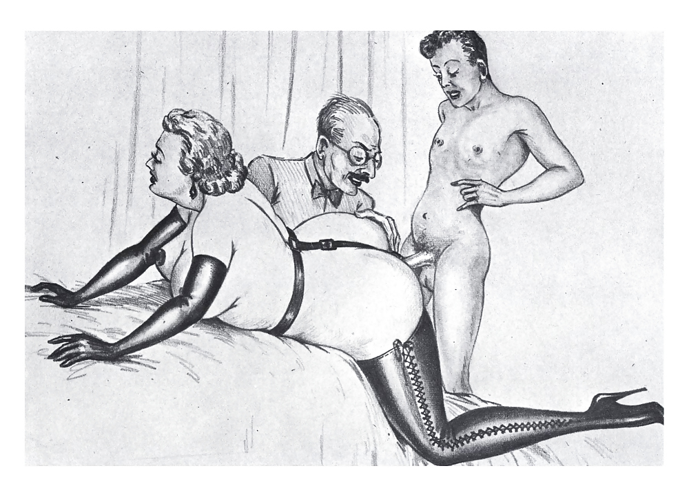 Erotic Vintage drawings Porn Pics #295474