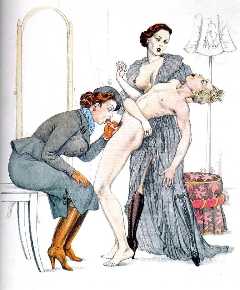 Erotic Vintage drawings Porn Pics #295517