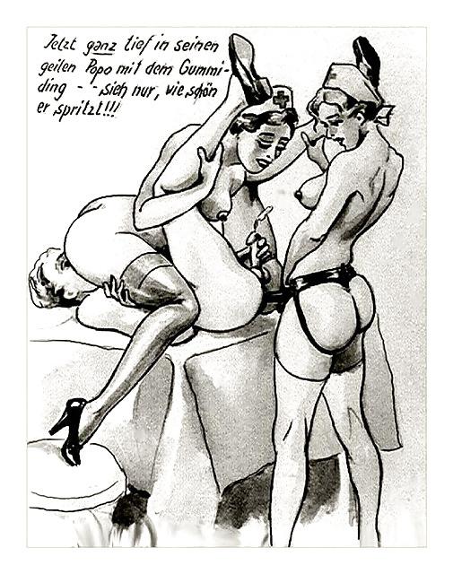 Erotic Vintage drawings Porn Pics #295557