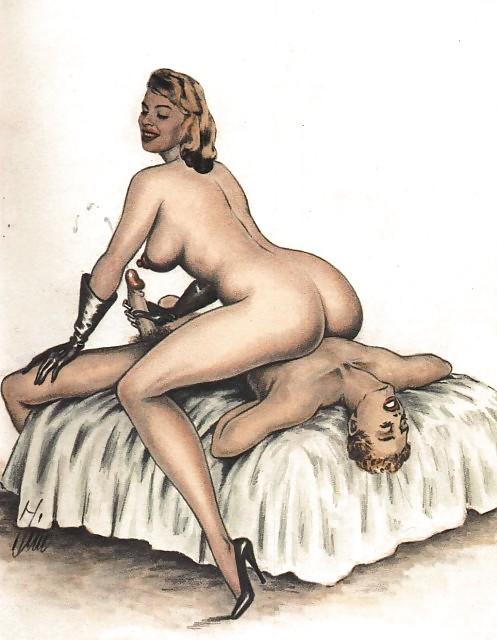 Erotic Vintage drawings Porn Pics #295595