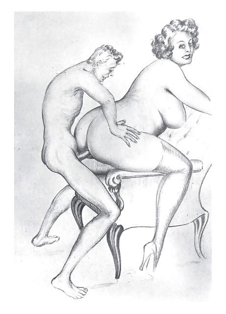 Erotic Vintage drawings Porn Pics #295644