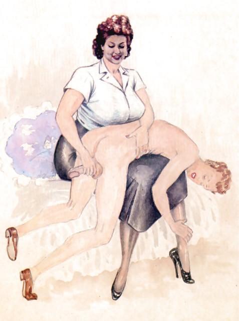 Erotic Vintage drawings Porn Pics #295669
