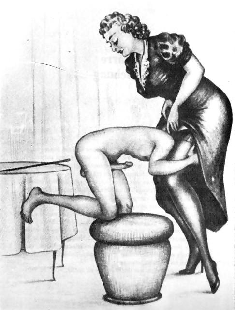 Erotic Vintage drawings Porn Pics #295680