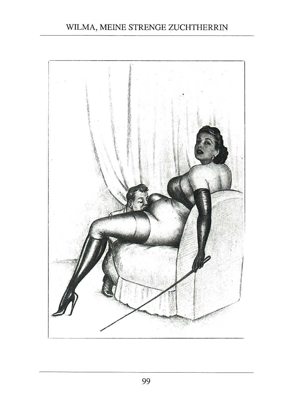 Erotic Vintage drawings Porn Pics #295729