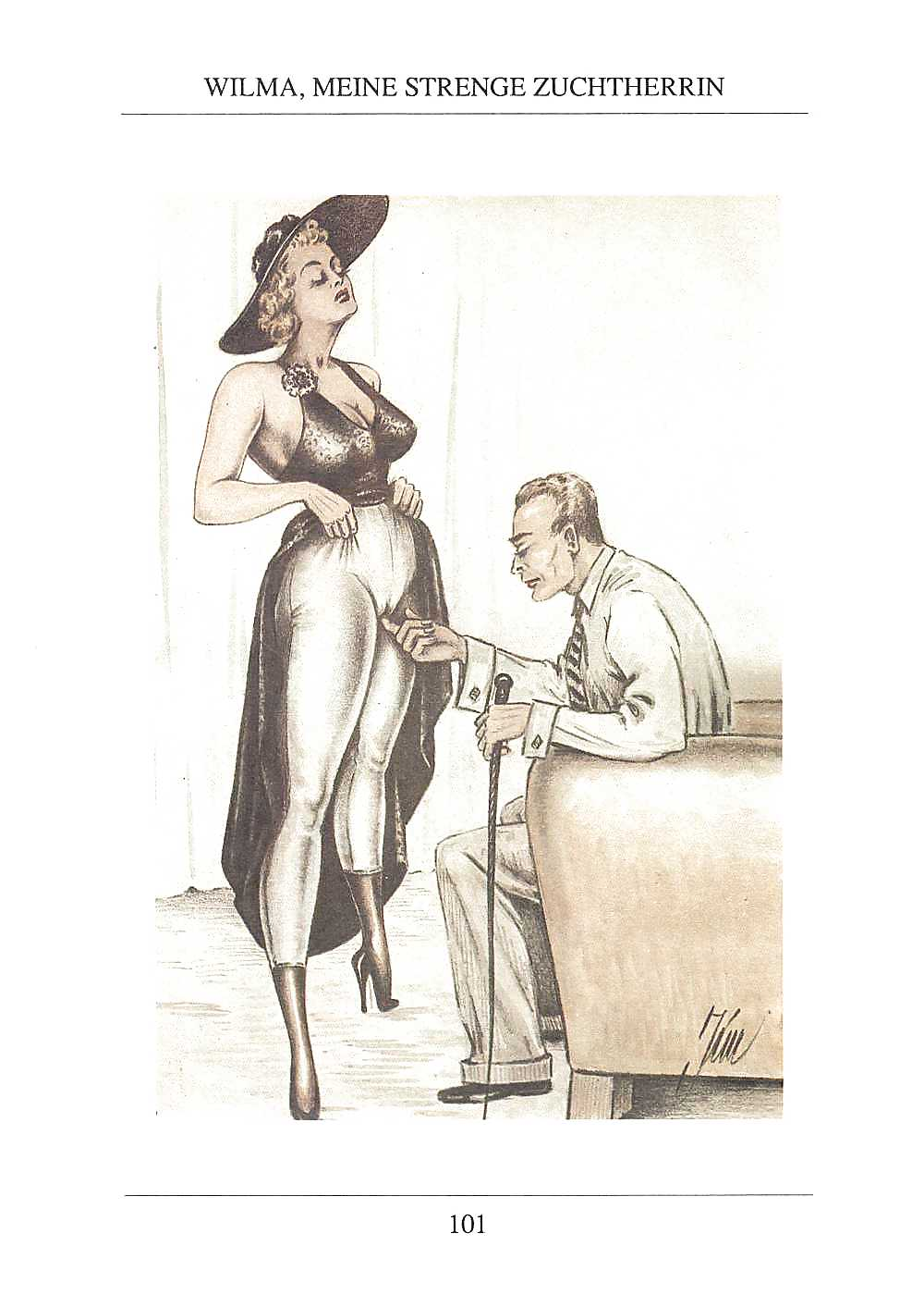 Erotic Vintage drawings Porn Pics #295738