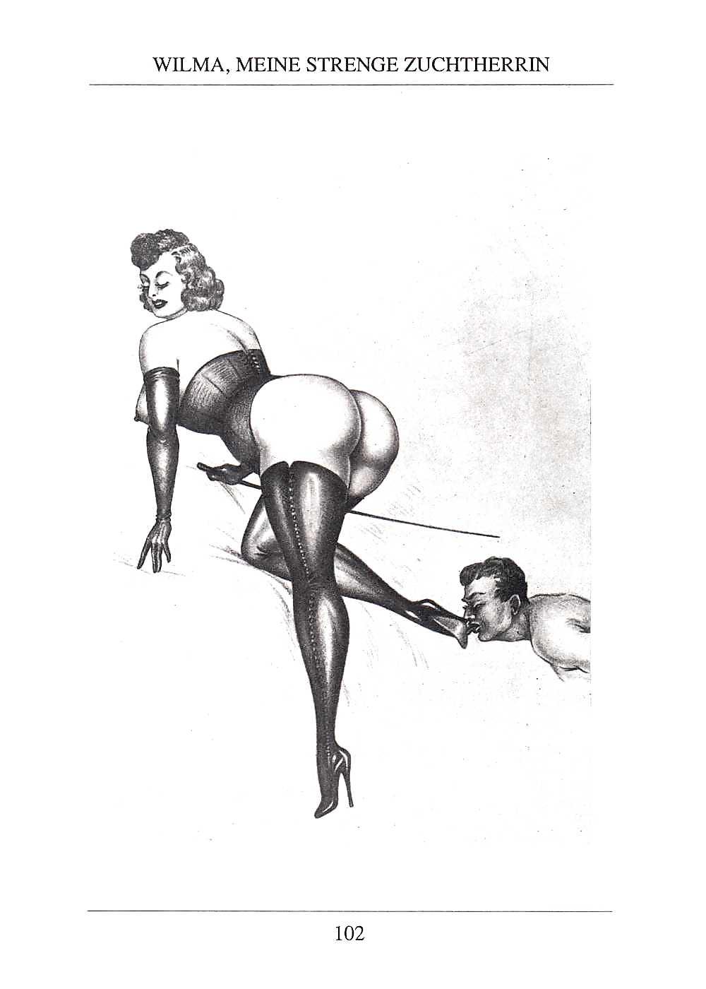 Erotic Vintage drawings Porn Pics #295747