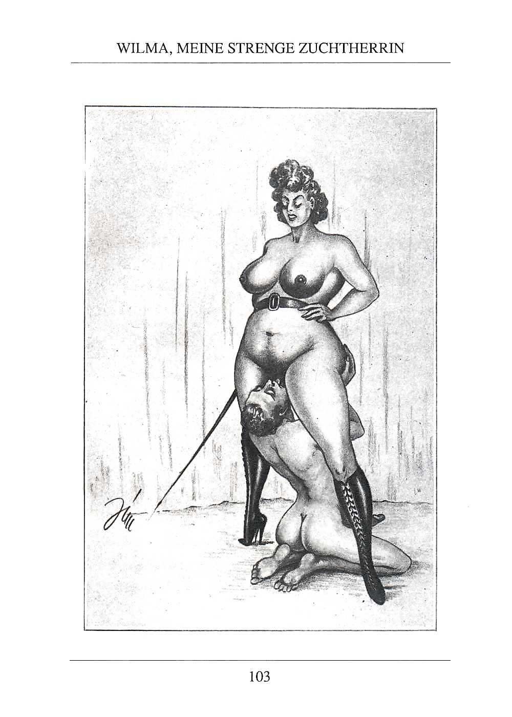 Erotic Vintage drawings Porn Pics #295755