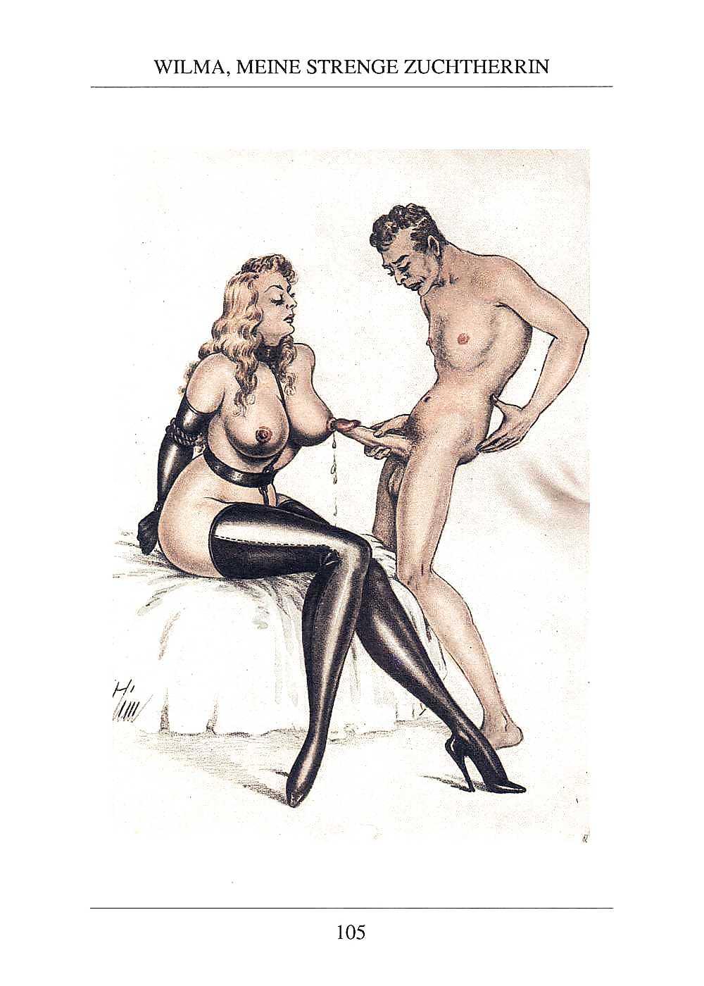 Erotic Vintage drawings Porn Pics #295774