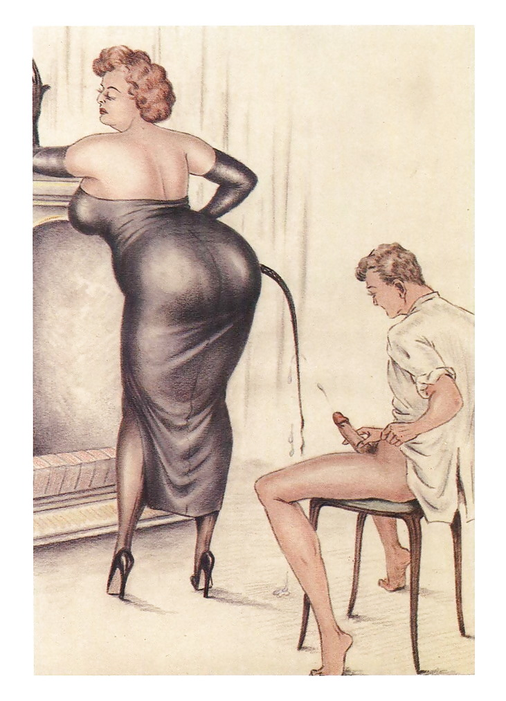 Erotic Vintage drawings Porn Pics #295802