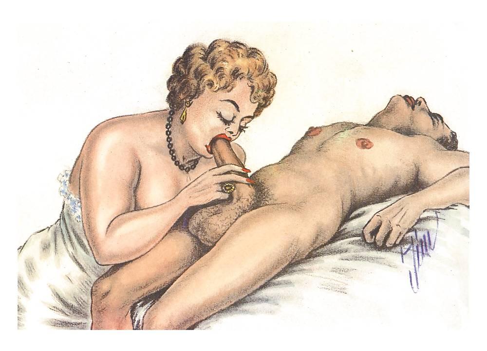 Erotic Vintage drawings Porn Pics #295821