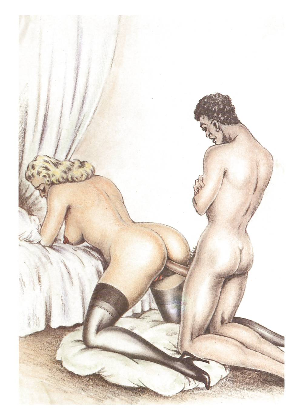 Erotic Vintage drawings Porn Pics #295837