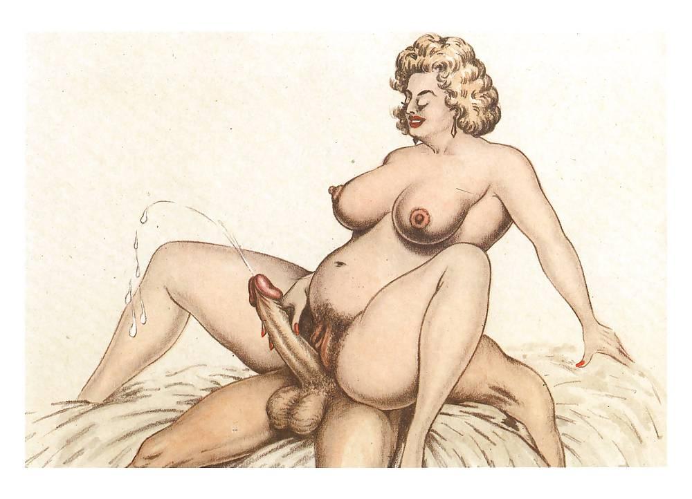 Erotic Vintage drawings Porn Pics #295846
