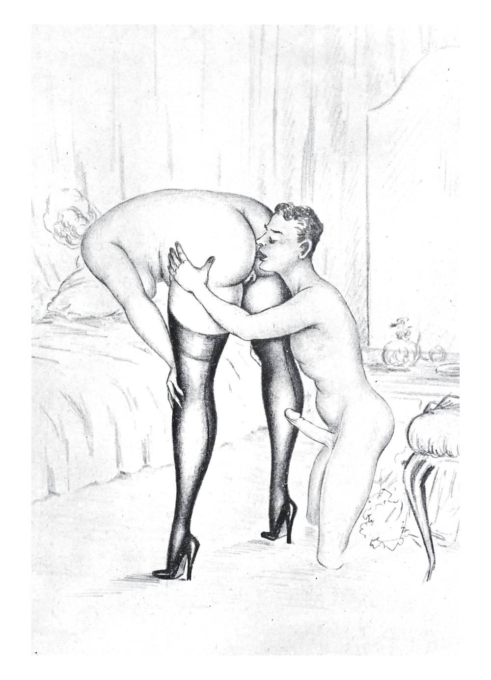 Erotic Vintage drawings Porn Pics #295882