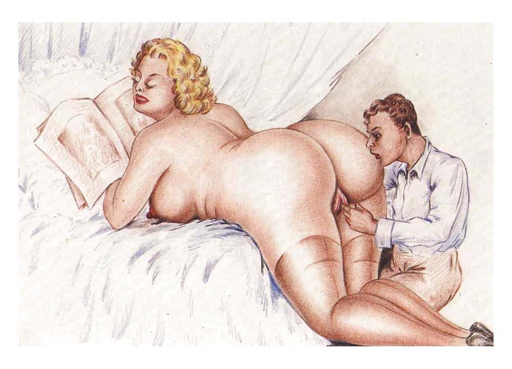 Erotic Vintage drawings Porn Pics #295909