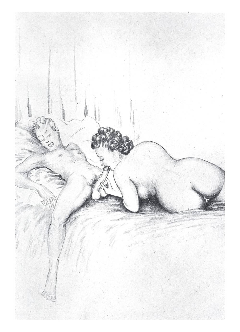 Erotic Vintage drawings Porn Pics #295918