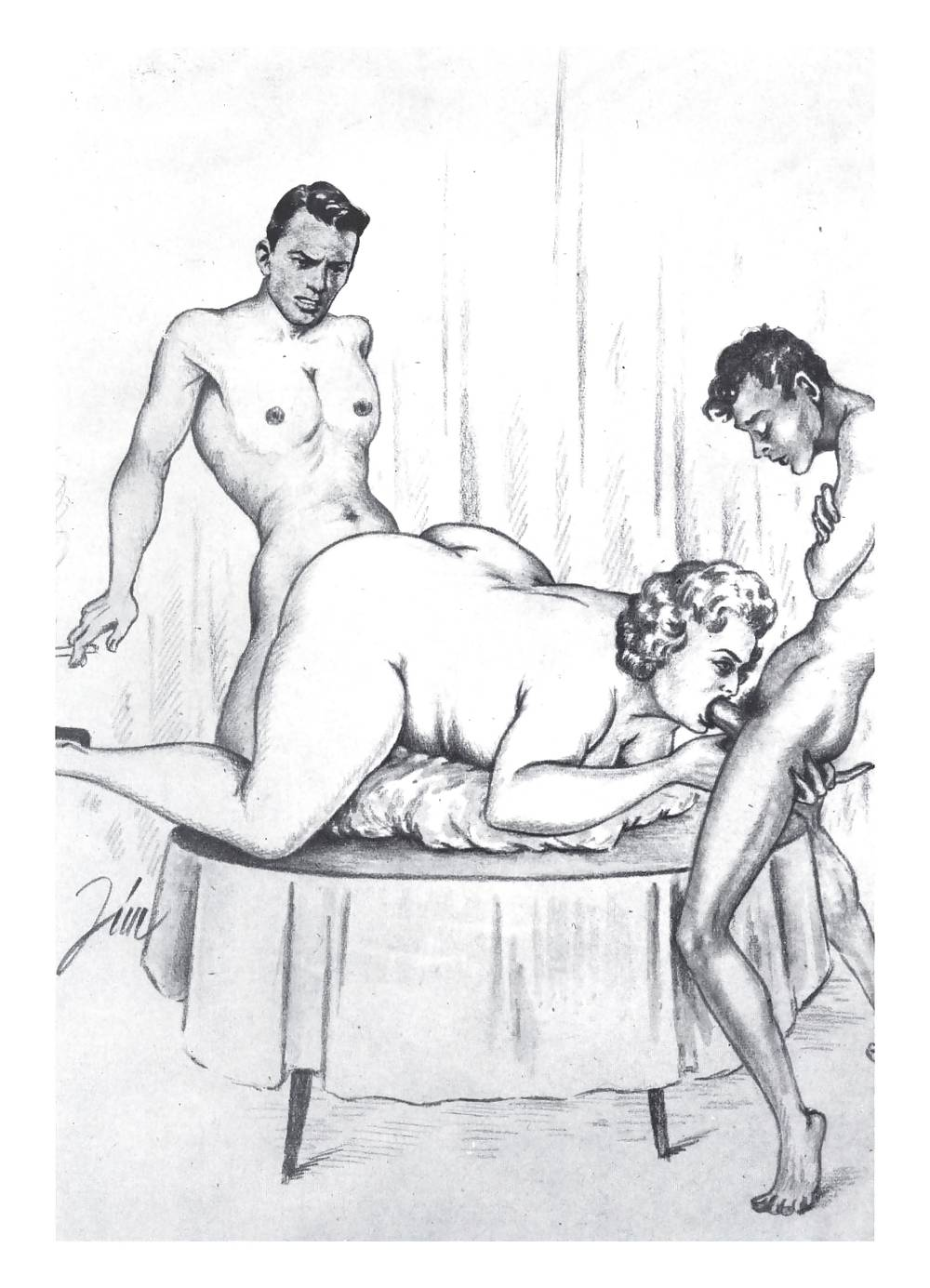 Erotic Vintage drawings Porn Pics #295991