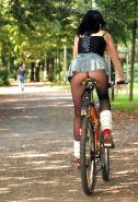 Upskirt Bicycle And Bike
