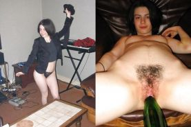 Dressed - Undressed Hairy women Part 10 #3987653