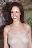 Hilary swank see thru dress