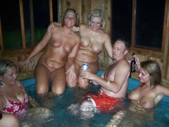 Amateur Hot Tub Orgy Party