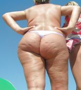 Wife big ass on the beach