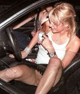 Beautiful Celebs Upskirt Out of the Car by Voyeur TROC