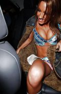Beautiful Celebs Upskirt Out of the Car by Voyeur TROC #9920168