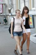 Amateur Hot  Babes  Wearing Mini Skirt in Public