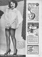 Stockings pages from vintage magazines