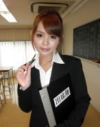 Japanese teacher photoshoot