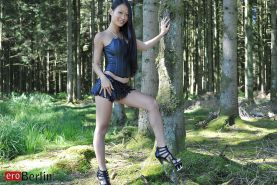 Eroberlin asian Superstar Pussykat from France sexy forest