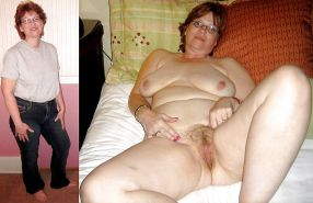 Mature milf dressed undressed 3
