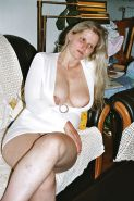 SAG - Wife's Big Juicy Melons In A Deep White V-Cleavage 1