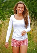 Private Outdoor Striptease of a cute German Teen at a lake