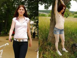 Teens dressed undressed Before and after