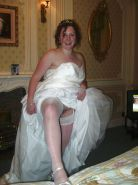 BRIDES wedding white panties voyeur married young