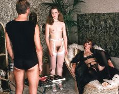 Vintage two couples decide to have an orgy