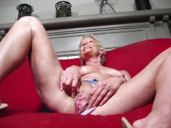 Shaved Granny with Toys