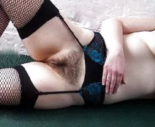 Legs in stocking - hairy pussy