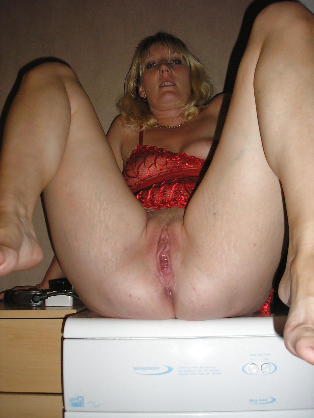 MILF blonde woman panties amateur mature wife wet pussy  #14168153