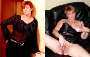 Mature milf dressed undressed 2 #10402991