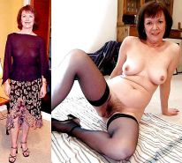 Mature milf dressed undressed 2 #10403027