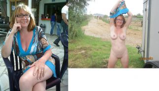 Mature milf dressed undressed 2 #10403279
