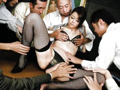 Japanese office gangbang creampie