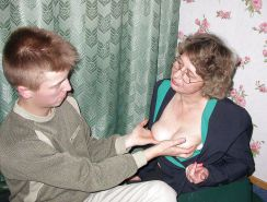 Matures loves to give breast to young guys